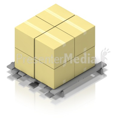 Pallet of Boxes Isometric Presentation clipart