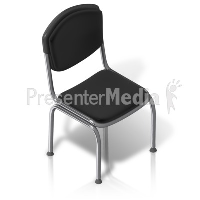 Metal Chair Front Isometric Presentation clipart
