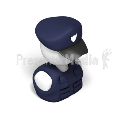 Police Isometric Presentation clipart