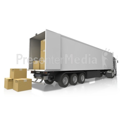 Semi Delivery Cargo Presentation clipart
