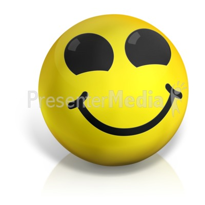 Happy Emotion Ball Presentation clipart