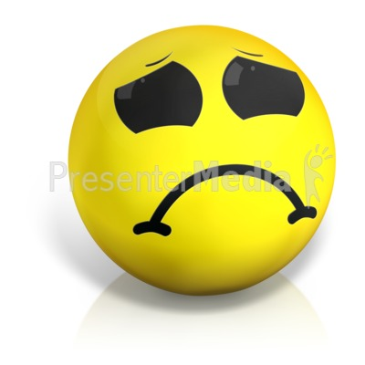 Sad Emotion Ball Presentation clipart