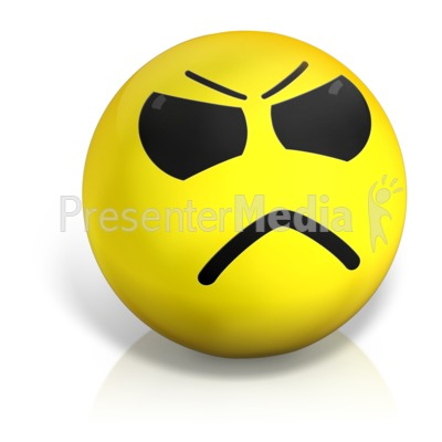 Angry Emotion Ball Presentation clipart