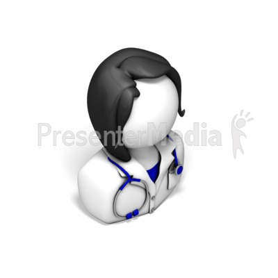 Female Nurse or Doctor Icon Presentation clipart