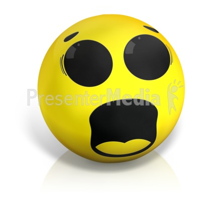 Scared Emotion Ball Presentation clipart