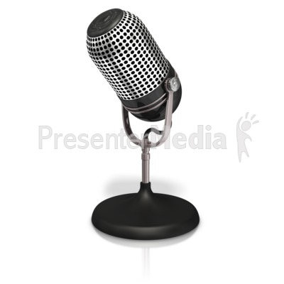 Table Microphone Presentation clipart