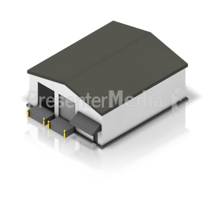 Small Shipping Warehouse Isometric Presentation clipart