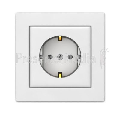 European Power Outlet Presentation clipart