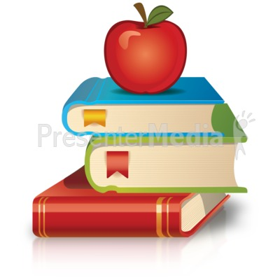 Stack Of Books Apple Presentation clipart