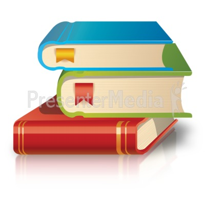 School Books Stack Presentation clipart