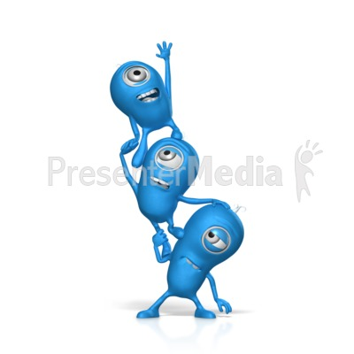Teamwork Reaching For Something Presentation clipart