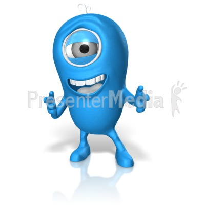 Happy Character Pointing Presentation clipart