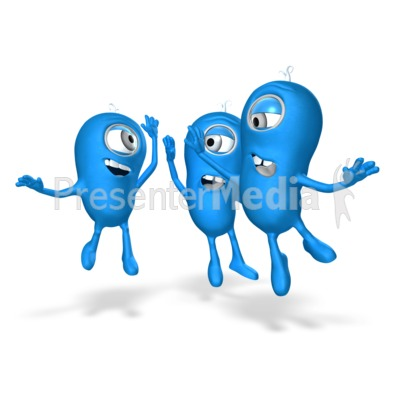 Characters Group High Five Presentation clipart