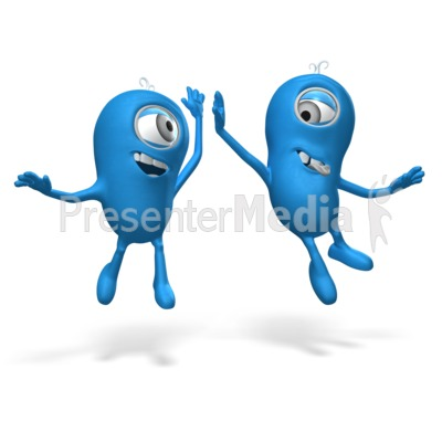 High Five Me Man Presentation clipart