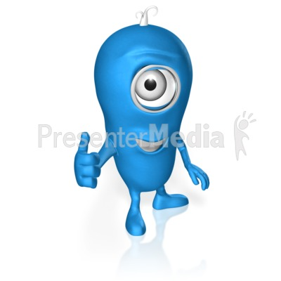 Character Thumbs Up Presentation clipart
