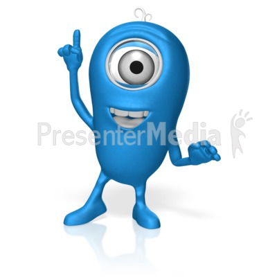 Character Point Up Presentation clipart