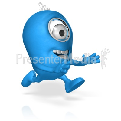 Character Run Reaching Presentation clipart