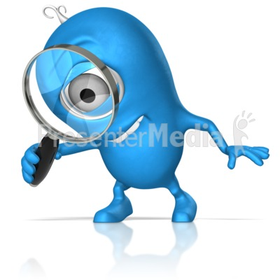 Character With Magnify Glass Presentation clipart