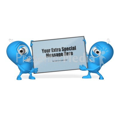 Characters With Sign Presentation clipart
