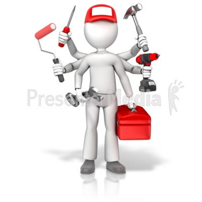Handyman Jack Of All Trades Presentation clipart