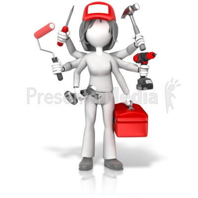 Handywoman Jack Of All Trades Presentation clipart