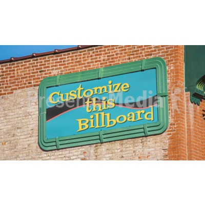 Old Billboard On Brick Wall Custom Presentation clipart
