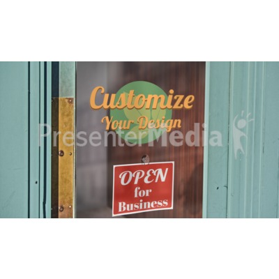Old Door Glass Custom Presentation clipart