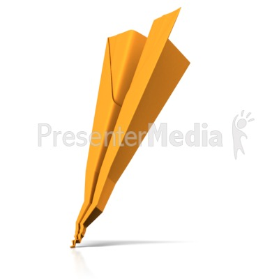 Crashed Paper Airplane Presentation clipart