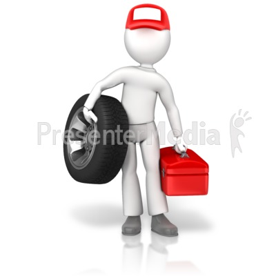 Tire Guy Wheel Toolbox Presentation clipart