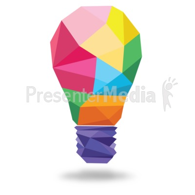 Light Bulb Shapes Presentation clipart