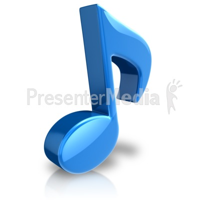 Musical Note Large Color Presentation clipart