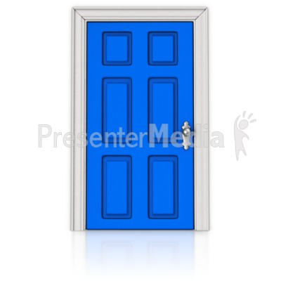 A Door that is Closed Presentation clipart