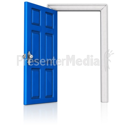 Door that is Open Presentation clipart