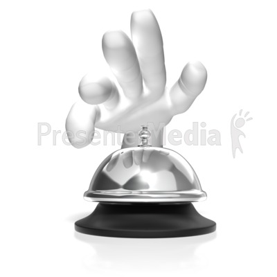 Hand Ring Call Bell Presentation clipart