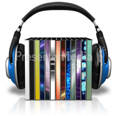Headphones Cd Cases Presentation clipart
