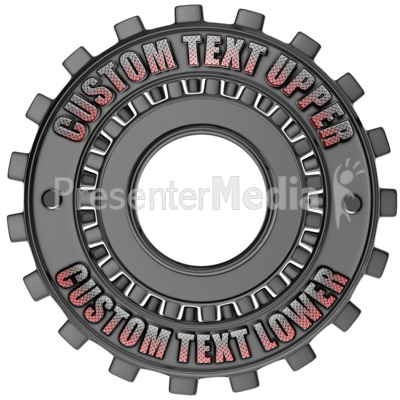 Custom Gear Ring Presentation clipart