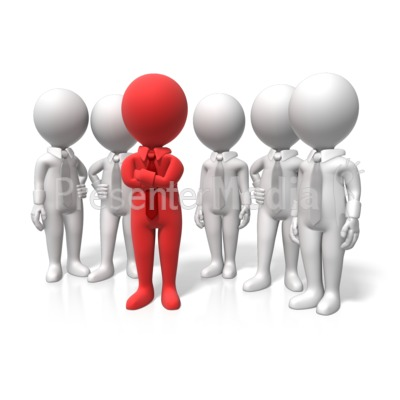 Leader Stand Out Presentation clipart