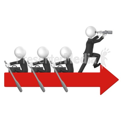 Business Men Row Arrow Presentation clipart