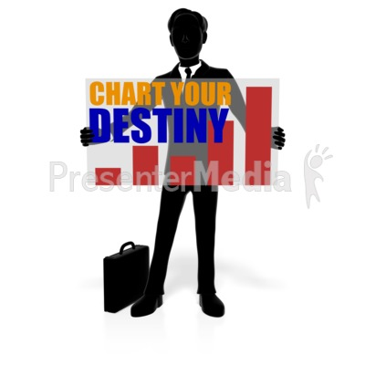 Business Man Silhouette Custom Presentation clipart