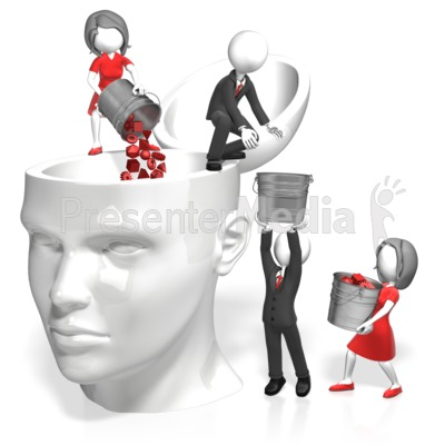 Pouring Into Head Presentation clipart