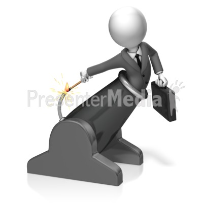 Businessman Light Cannon Presentation clipart