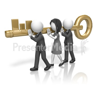 Business People Carry Key Presentation clipart