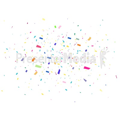 Confetti Background Celebrate Presentation clipart