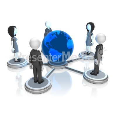 Business People Global Nodes Presentation clipart