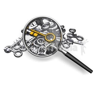 Searching For Standout Key Presentation clipart