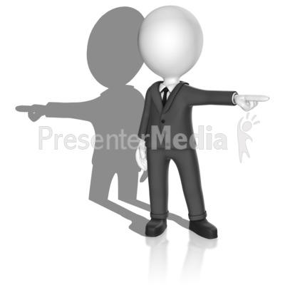 Shadow Point Opposite Presentation clipart