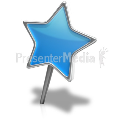 Star Pin Angled Presentation clipart