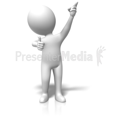 Figure Thumb Pointing Up Presentation clipart