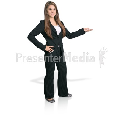 Young Girl Professional Display Presentation clipart