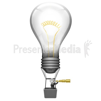Light Bulb Search Ideas Presentation clipart